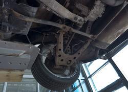 Регулировка угла колес машины